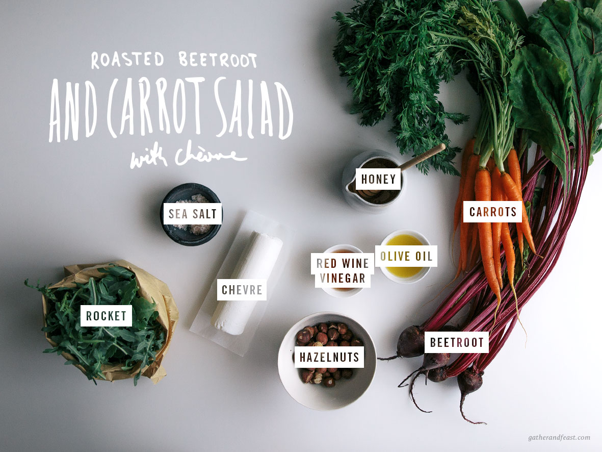 Roasted Beetroot & Carrot Salad with Chèvre  |  Gather & Feast
