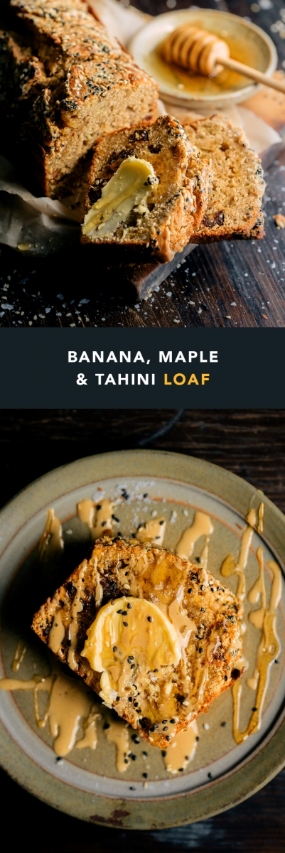 Banana, Maple & Tahini Loaf  |  Gather & Feast