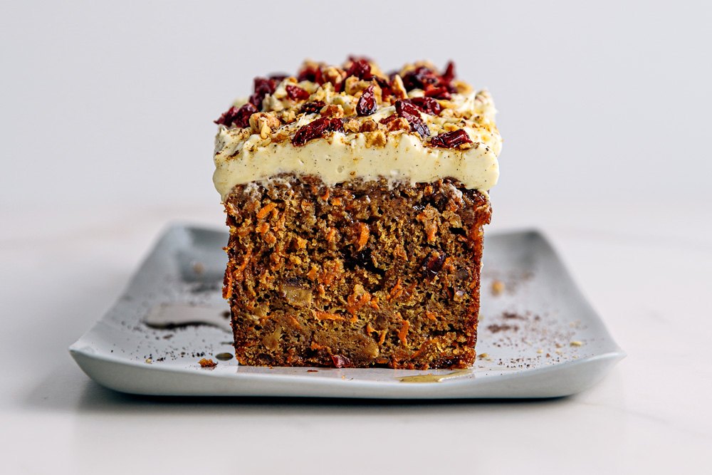 Craisin Spiced Carrot Cake with Cream Cheese Frosting  |  Gather & Feast