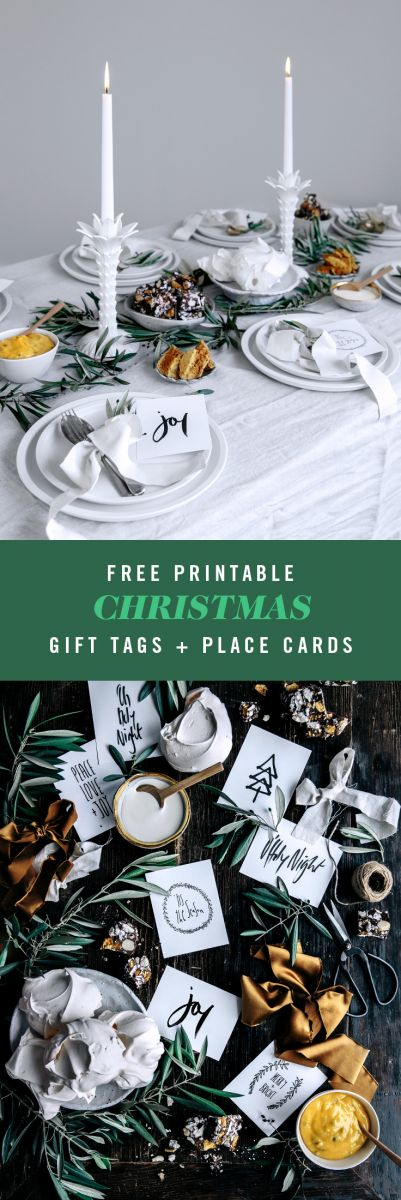 Free Christmas Printable Gift Tags & Place Cards  |  Gather & Feast