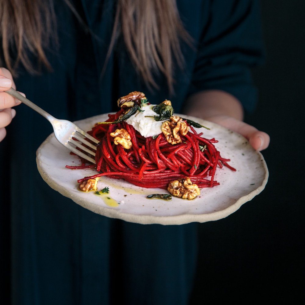 Beetroot Spaghetti  |  Gather & Feast
