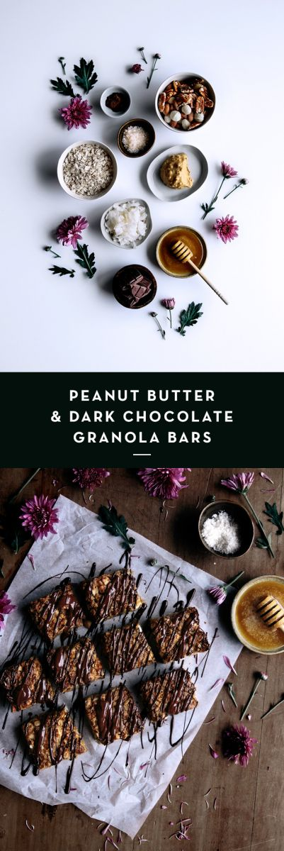 Peanut Butter & Dark Chocolate Granola Bars  |  Gather & Feast