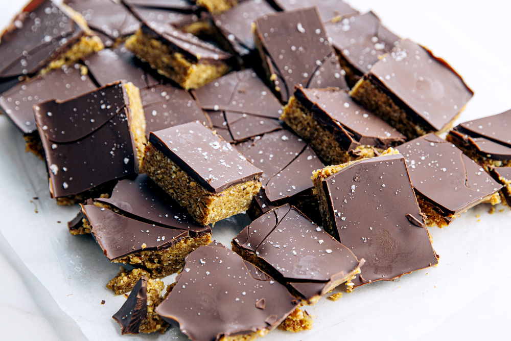 Peanut Butter Nutty Chocolate Slice  |  Gather & Feast