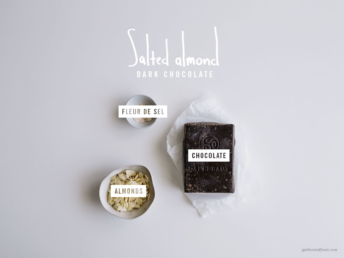 Salted Almond Dark Chocolate  |  Gather & Feast