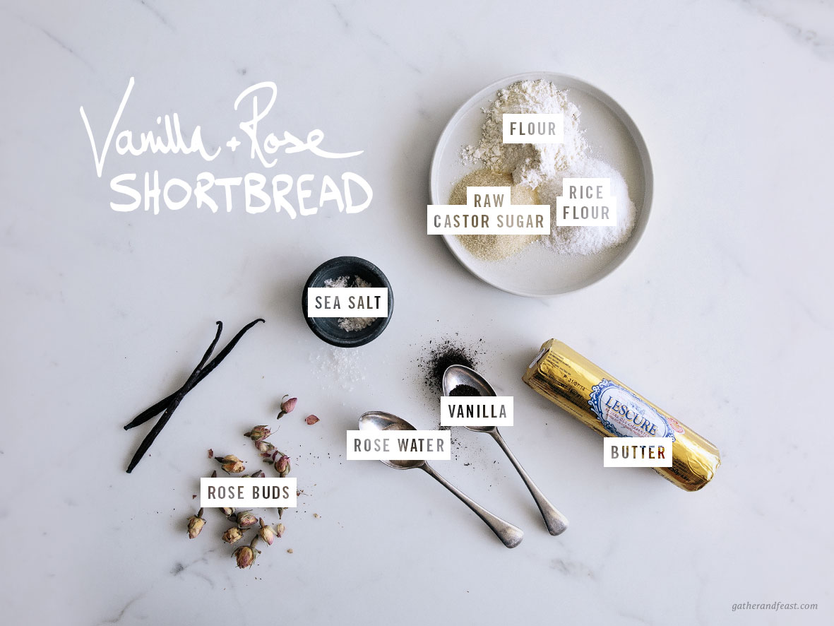 Vanilla & Rose Shortbread  |  Gather & Feast