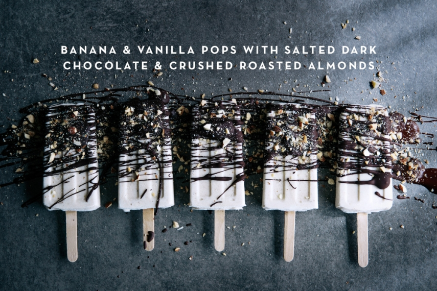 Banana+%26+Vanilla+Pops+with+Salted+Dark+Chocolate+%26+Crushed+Roasted+Almonds++%7C++Gather+%26+Feast
