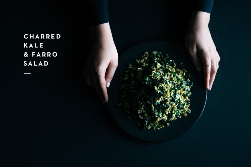Charred+Kale+%26+Farro+Salad++%7C++Gather+%26+Feast