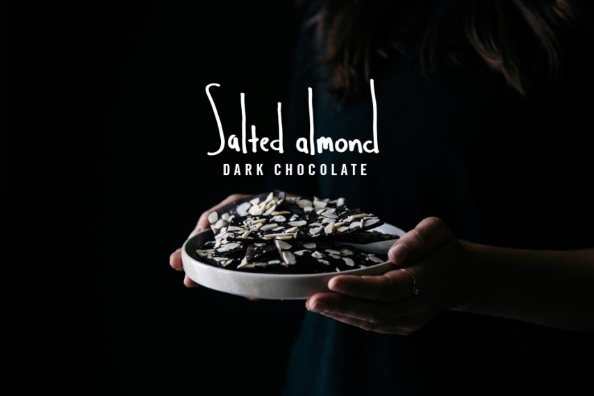 Salted+Almond+Dark+Chocolate++%7C++Gather+%26+Feast