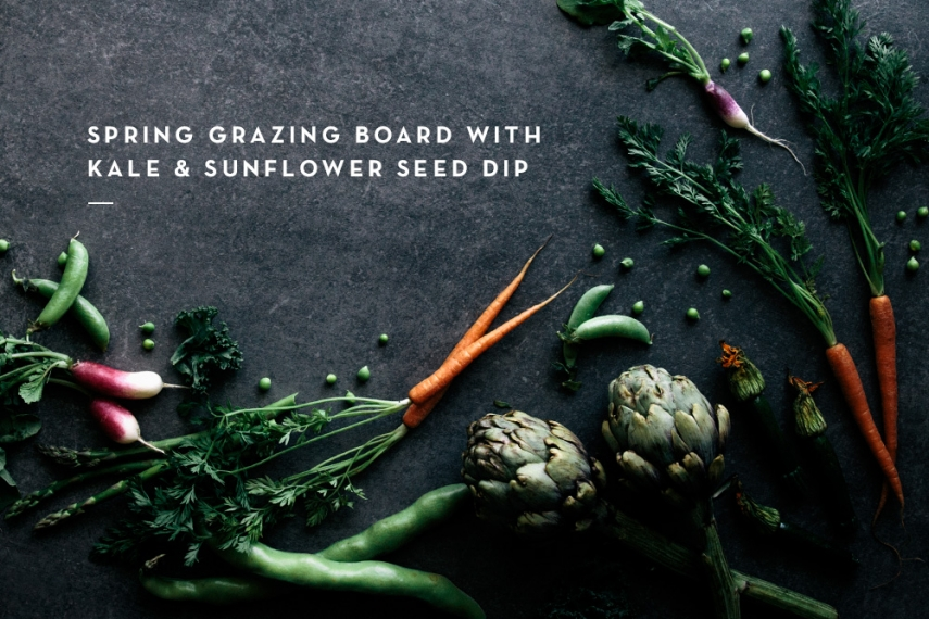 Spring+Grazing+Board+with+Kale+%26+Sunflower+Seed+Dip++%7C++Gather+%26+Feast