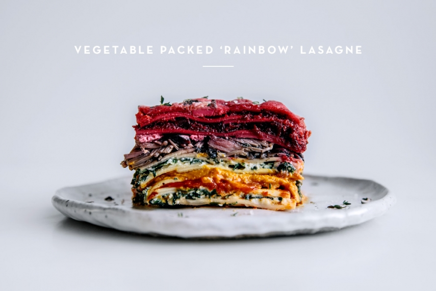 Vegetable+Packed+%E2%80%98Rainbow%E2%80%99+Lasagne++%7C++Gather+%26+Feast