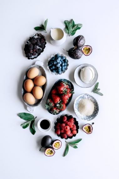 Mega+Berry+Pavlova+with+Lemon+Curd+%26+Fresh+Mint++%7C++Gather+%26+Feast