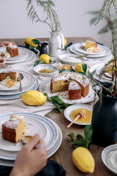 Lemon%2C+Olive+Oil+Vanilla+Cake+with+Yoghurt+Cream+%26+Chamomile++%7C++Gather+%26+Feast