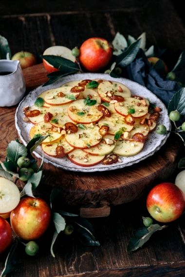 JAZZ+Apple%2C+Date%2C+Almond+%26+Mint+Salad+with+Sweet+Vanilla+Lime+Dressing++%7C++Gather+%26+Feast