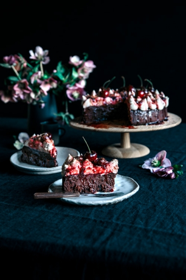 Steamed+Black+Forest+Mud+Cake+with+Vanilla+Mascarpone+%26+Vanilla+Cherry+Jam++%7C++Gather+%26+Feast