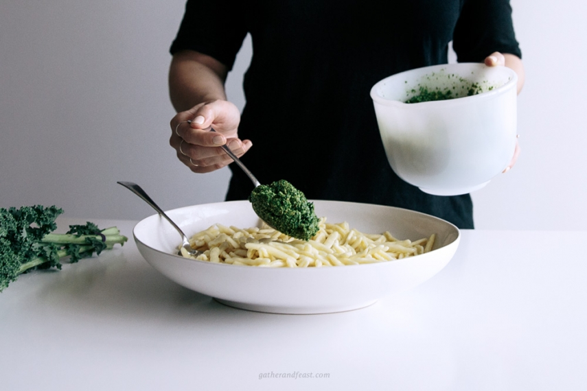 Kale+%26+Basil+Pesto+with+Pasta++%7C++Gather+%26+Feast