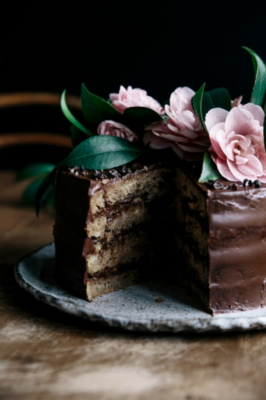 Banana+%26+Maple+Layer+Cake+with+Avocado+Chocolate+Frosting++%7C++Gather+%26+Feast