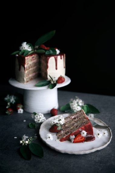 Fresh+Strawberry+%26+Vanilla+Layer+Cake++%7C++Gather+%26+Feast